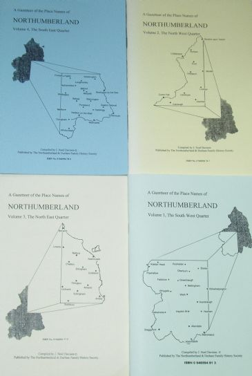 A Gazetteer of the Place Names of Northumberland - 4 Volumes